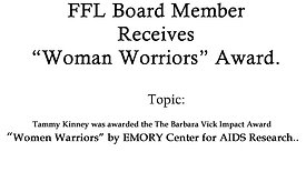 "Tammy Kinney Receives ""Women Warriors"""