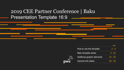 Presentation template 16:9