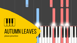 Les feuilles mortes : Tutoriel de piano jazz - Exercice