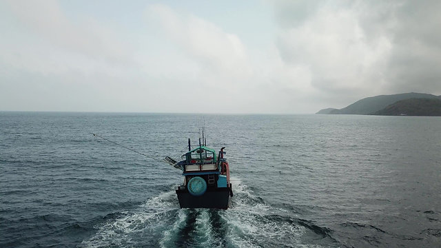 Con Dao Fishing Boat - static