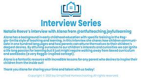 Interview with Alana - ArtfulTeaching.JoyfulLearning®