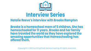 Interview with Brooke Rampton