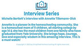 Interview with Annette Tillemann-Dick