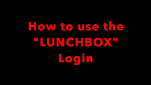 How to use LUNCHBOX Login