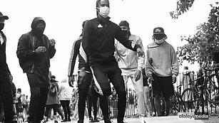 Black Lives Matter protestors self-expression through dance.