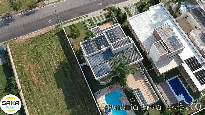 Residencial 12 placas solares