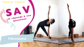 SAV Trikonasana: conseils pour comprendre la posture du triangle