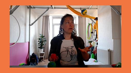 Jongleertrucjes met 1,2 of 3 ballen