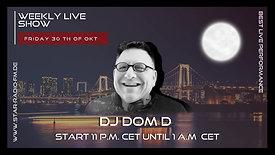 ( 30th FRIDAY OKT'20) STAR RADIO FM presents, DJ DOM D