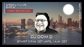 (29 th FRIDAY JAN '21 ) STAR RADIO FM presents, DJ DOM D