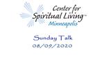 Sunday Talk 08-09-2020