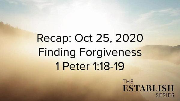 Sermon Summary Oct 25