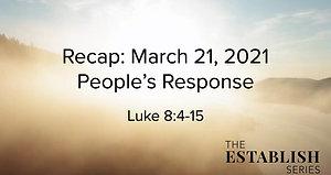 Sermon Summary March 21