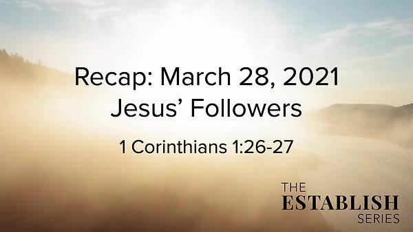 Sermon Summary March 28