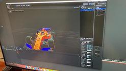 3D hologram content design for Formula 1