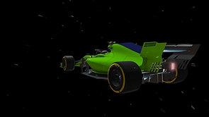 F1 Car on smoking tires