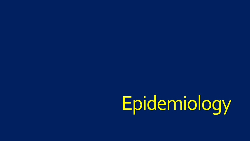 Epidemiology of C. difficile
