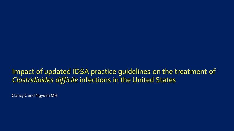 Clancy et al Impact of Guidelines ID Week 2019
