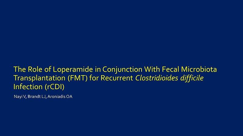 Nayi et al Patient Loperamide ACG 2019