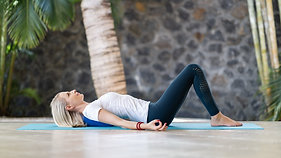 Stretching to release the tension from the upper body