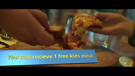 Kids eat free with adult meal