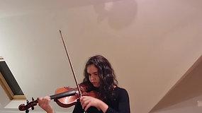 Julia Węglewicz (skrzypce) - Bach Allemande