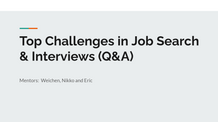 Top Challenges in Job Search & Interviews