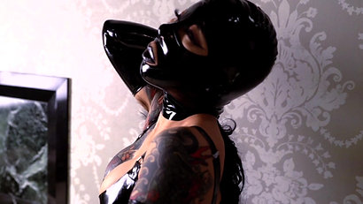 latex hood mistress