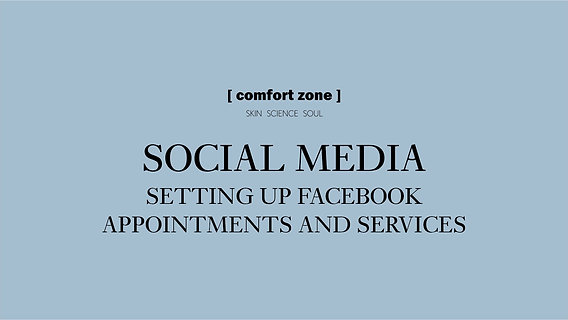 Social Media: Facebook Appointments