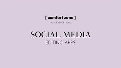 Social Media: Editing Apps