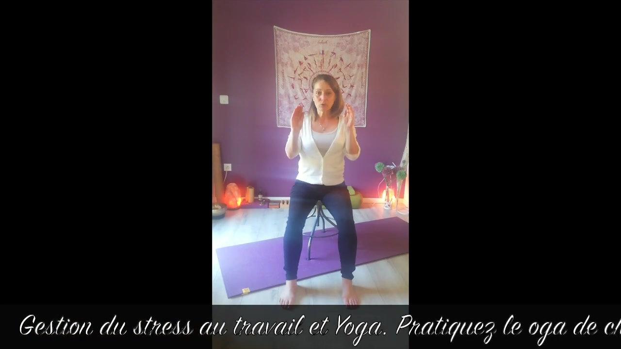 Stress au travail et yoga. retrouvez toutes mes vidéos sur www.yogatherapie-latrame.com