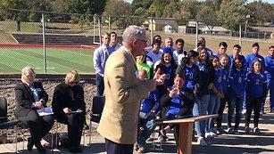 State Sen. Dave Rader speaks at WRHS football/soccer stadium groundbreaking