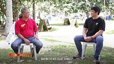 Doc Jun Cueto with Gull Bloodline ng Buenas Dias Gamefarm April 18, 2021
