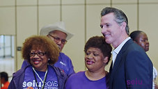 Gavin Newsom Stands with SEIU Caregivers