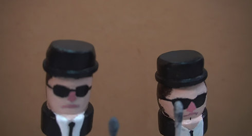 """a tribute puppet show to """" Blues Brothers"""""""