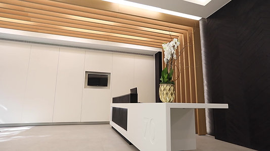 Oak veneer, Corian, Concrete, Lacquered paint