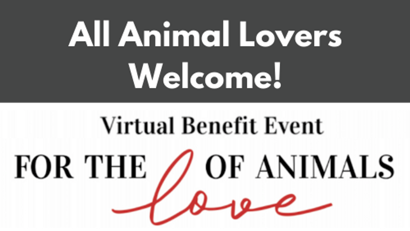 For the Love of Animals Virtual Benefit