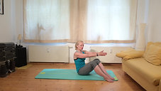 Wohnzimmer-Pilates mittelschwer