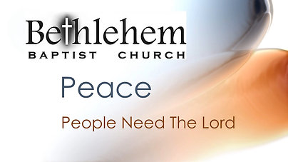 Peace - People Need The Lord