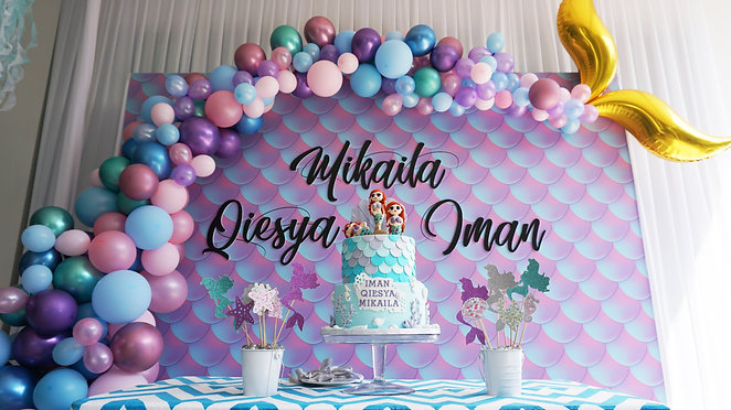 Mikaila, Qiesya & Iman Mermaid Birthday Party