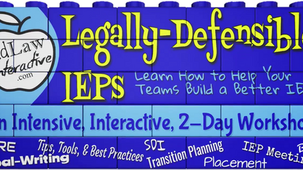 Legally-Defensible IEPs
