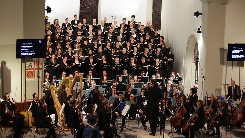 Francis Poulenc - extraits Stabat Mater et Gloria / Direction Philippe Morard, Ensemble Vocal de Villars-sur-Glâne; soliste: Brigitte Hool; Orchestre de Chambre fribourgeois