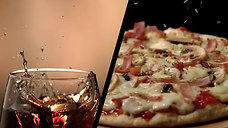 Pizza and Iced Tea