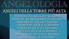 12. Angeli della torre più alta - WEHEWU'EL, DANIY'EL, HAHASIYAH,'AMAMIYAH, NANA'E'EL, NIYTA'EL, MEBAHIYAH, POY'EL
