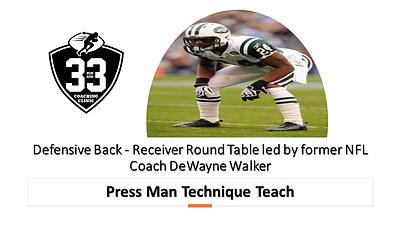 DB/WR Round Table: Press Man Technique
