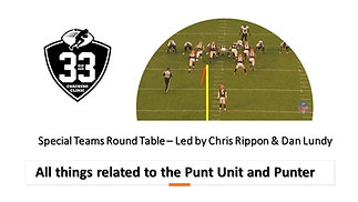 All things related to the Punt Unit and Punter