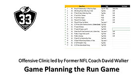 Game Planning the Run Game