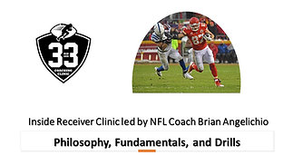 Inside Receivers - Philosophy, Fundamentals, and Drills