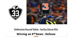 Winning 3rd Down on defense