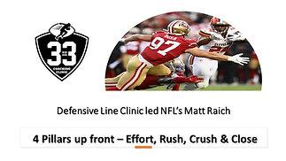 4 Pillars up front - Effort, Rush, Crush & Close